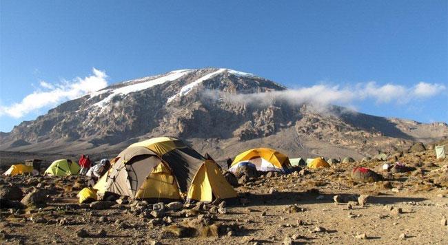 Tents setup Kilimanjaro
