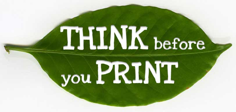 Think Befoe you Print Leaf